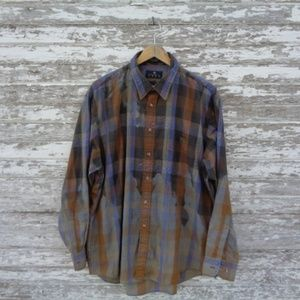 ENRO Shirts - [ENRO] Bleach Distressed Button Up Oxford Shirt
